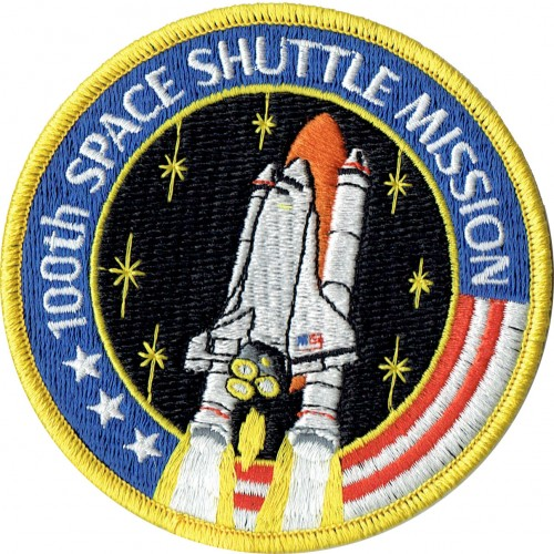100th Space Shuttle Mission Patch-500x500