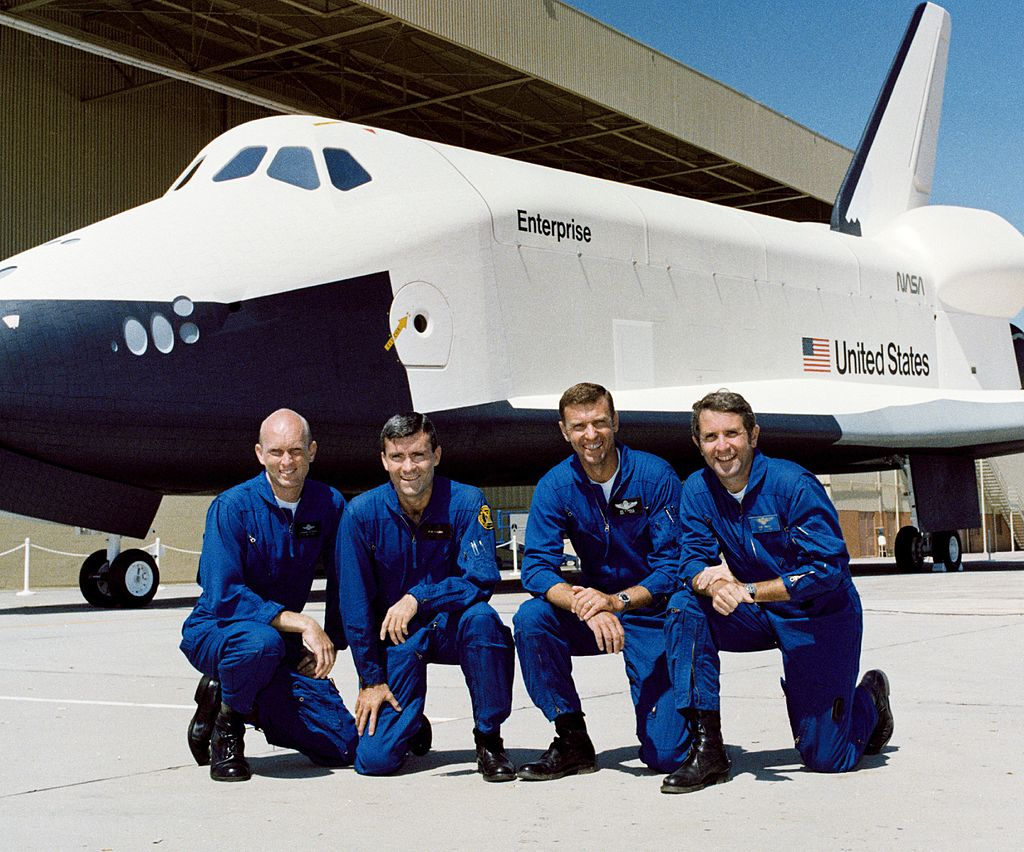 Space Shuttle Approach and Landing Tests crews cropped